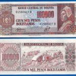 Tờ 100.000 Pesos Bolivaianos của Bolivia – Tôn vinh thành quả cải cách ruộng đất