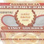 Kỷ niệm 200 năm Hiến pháp Haiti ban hành với tờ 20 Gourdes năm 2001