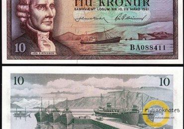 10 kronur Iceland 1961