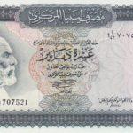 Anh hùng dân tộc Omar Mukhtar trên tờ 10 Dinar của Libya