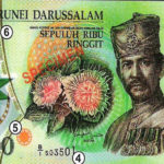 What is inside the 10,000 Brunei Dollars?